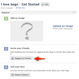 Facebook Pages - Invite Your Friends