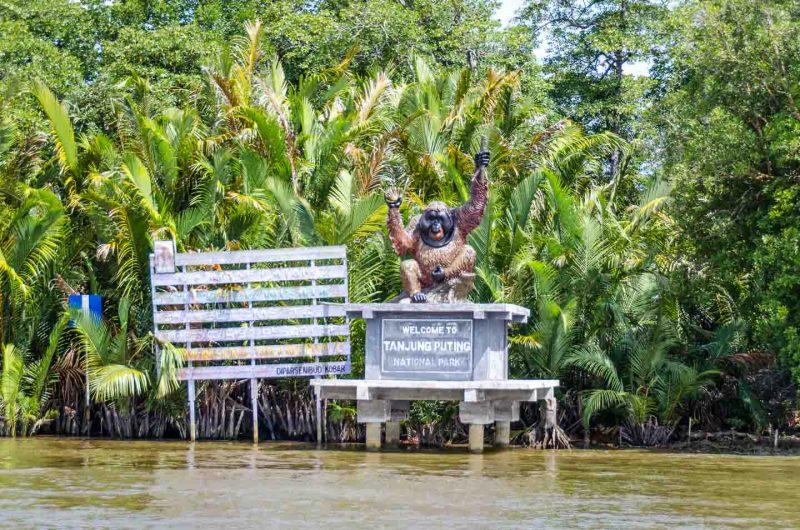 tanjung puting national park entrance sign