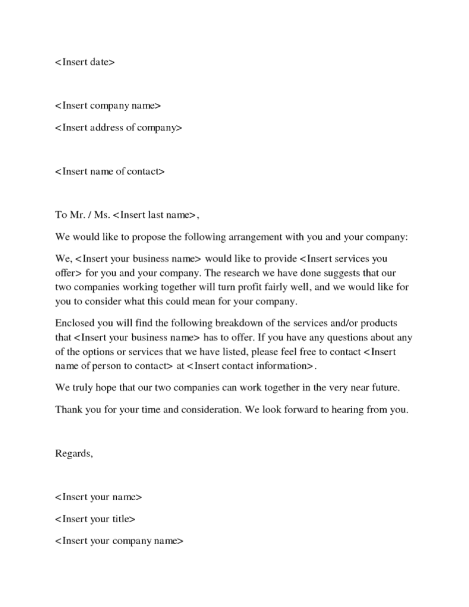 Sample Proposal Letter For School Partnership Business – Free Examples of Business Proposals