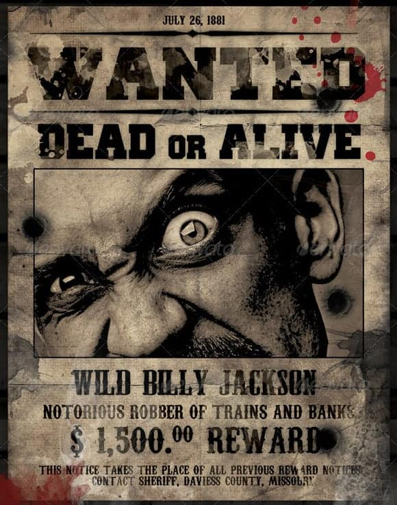 wanted poster in microsoft word