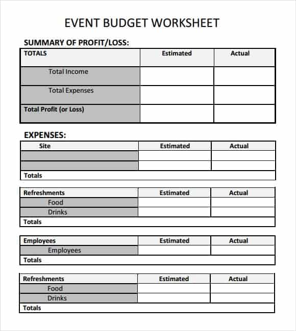 personal budget on excel