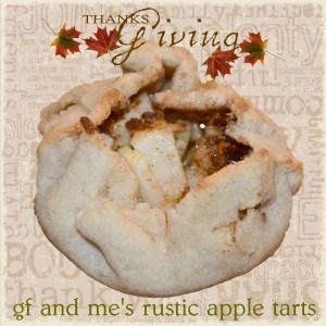 gluten free rustic apple tarts
