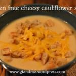 gluten free cheesy cauliflower soup