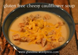 gluten free cheesy cauliflower soup