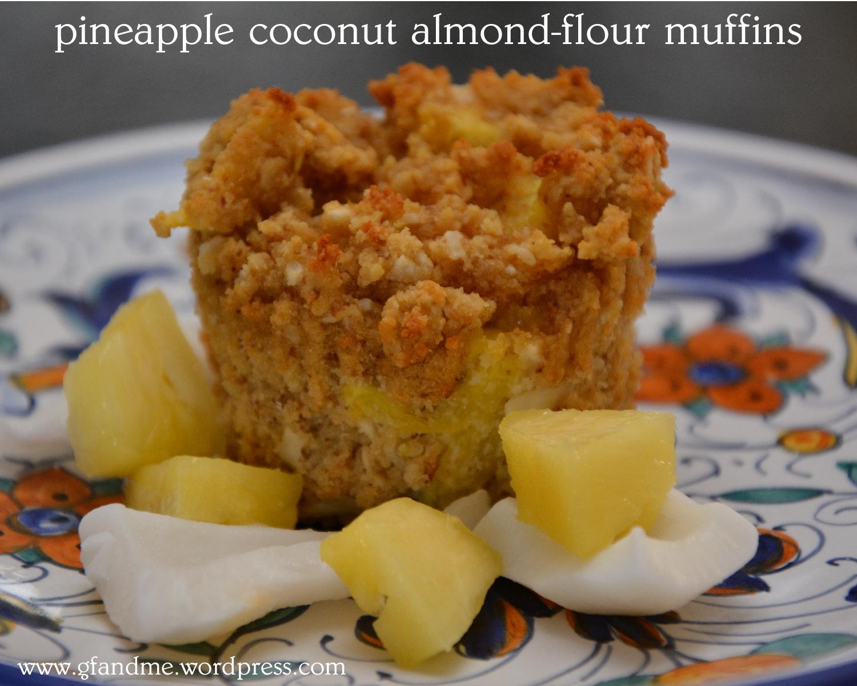 Pina Colada Almond Flour Muffins - gf and me