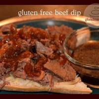 gfandme's gluten free beef dip sandwich