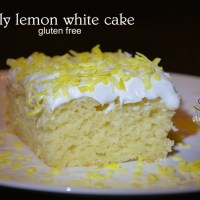 lightly lemon gluten free white cake - geoff's new favorite!
