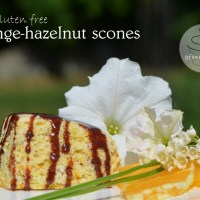 orange-hazelnut gluten free scones