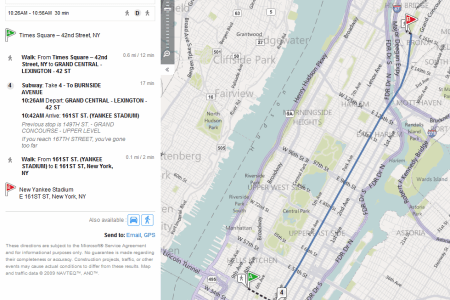 bing maps transit directions
