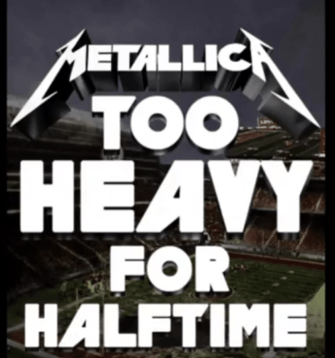 too heavy for halftime