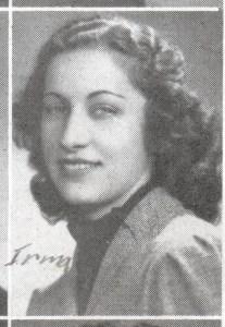 Irma Scenna, yearbook photo