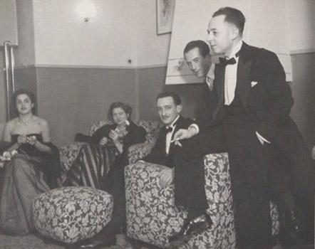 1946 o '47 – Silvia, Maria Sanvilli, Icio Sanvilli, ?, Nino