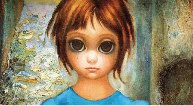 painting of girl with big eyes