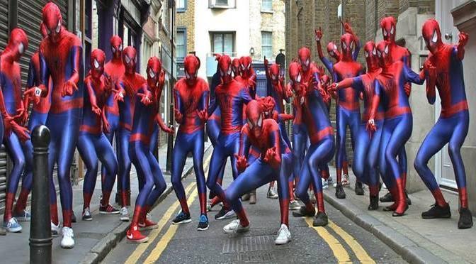 A bunch of Spider-Men