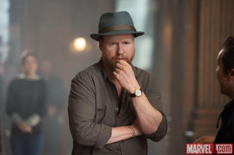 Joss while directing Avengers 2.