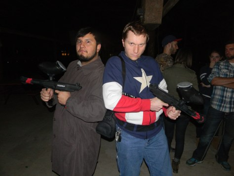 "My friend Sergio Garza (left) and I preparing to hunt some zombies. ""We got this guys! We got it by the @$$!"""