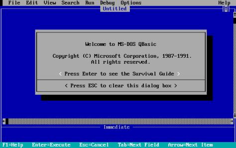 QBasic_Opening_Screen