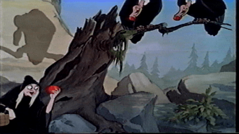 The movie uses the fact that the audience will connect the Vultures' sinister smile with the evil of The Evil Queen, to convince them that the Vulture's are on her side. However, literally embody death, and in the end, death takes no sides.