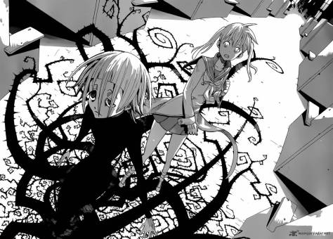 Crona walks away from Maka, the only friend in the darkness.