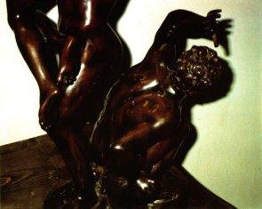 """Bronze représentant """"L'enlèvement d'une Sabine"""". Fonte actuelle. Détail."""