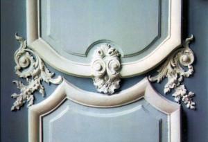 détail de la porte Salle blanche du Palais de Justice de Douai