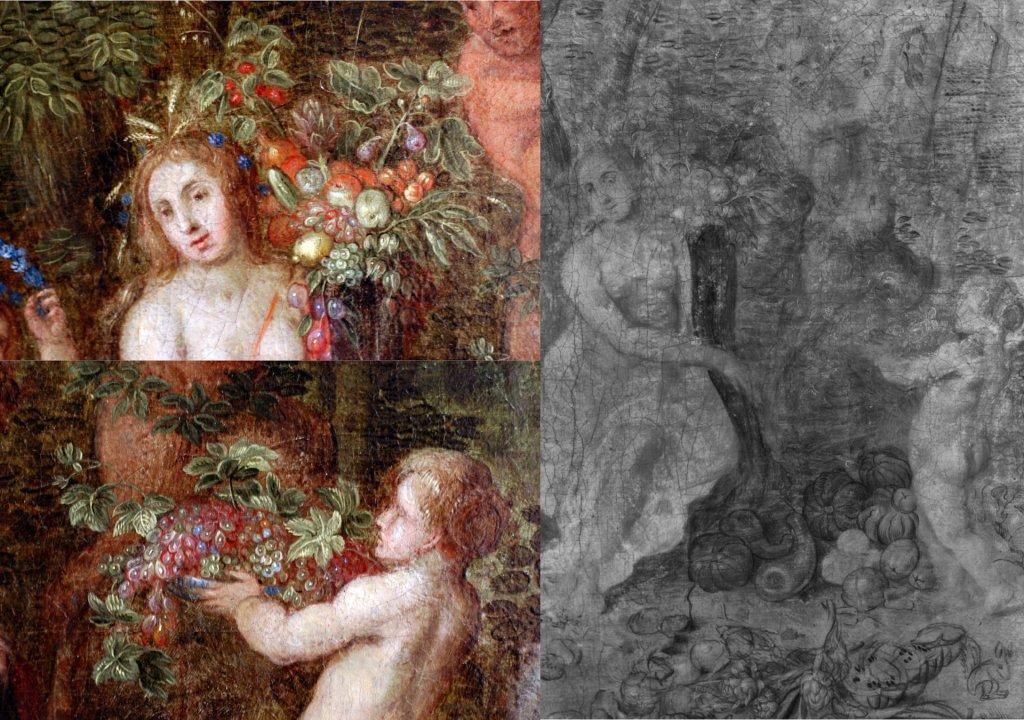 Brueghel The Elements - Earth - IR & Macro Details