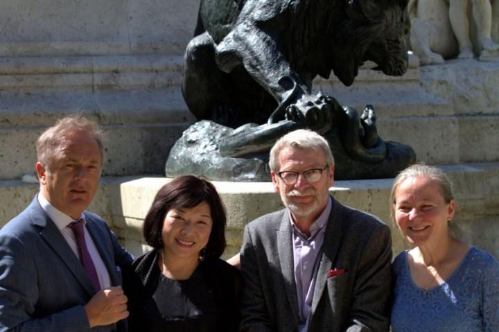 Gilles Perrault et Ling Ling Kuo, Dominique Barré et Halina Surzyn sculpteurs des ateliers Gilles Perrault