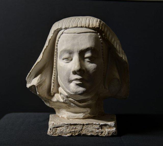 Copie en plâtre d'une tête de femme, Ecole Boulle, circa 1970