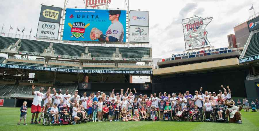 Mauer and Friends Kids Classic   Gillette Children s Specialty     View of attendees at 2017 Mauer Kids Classic on Target Field