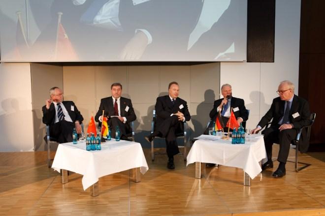 Panel Discussion at Greater China Day 2012 in Frankfurt. Photo: IHK Frankfurt / Markus Goetzke