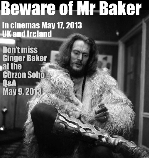 Beware of Mr Baker - meet Ginger at the Curzon Q&A