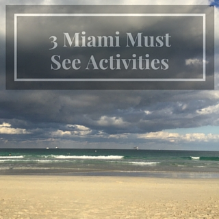 3 Miami Must See Activities!