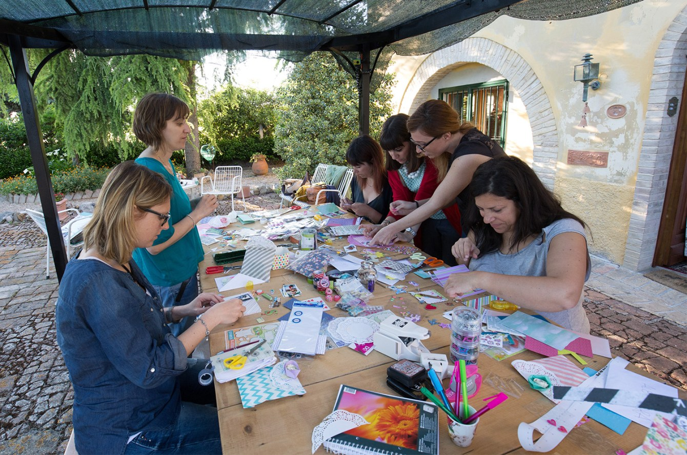 Mini album class at Il Canapaio