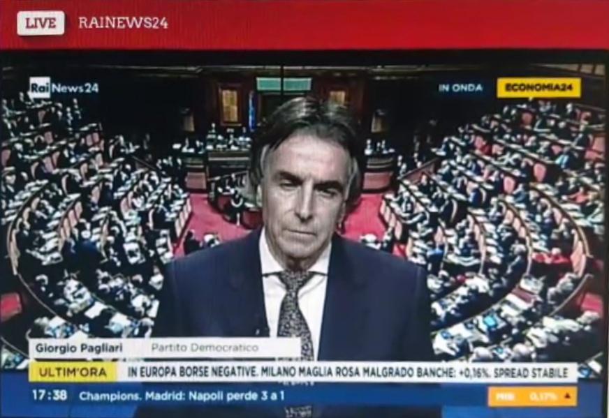 Giorgio Pagliari a RaiNews 24