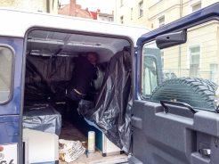 Dexter-Mobil: Abkleben und abdecken