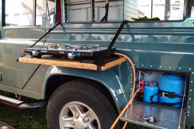 Küche auf der Fahrerseite