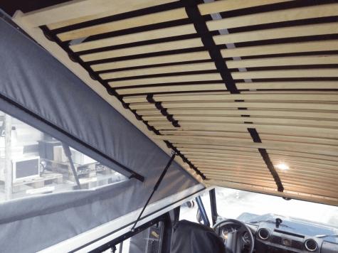 Aufstelldach von X-Vision-X einbauen: Das Dach aufgeklappt