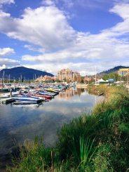 Der Yachthafen von Kelowna, British Columbia