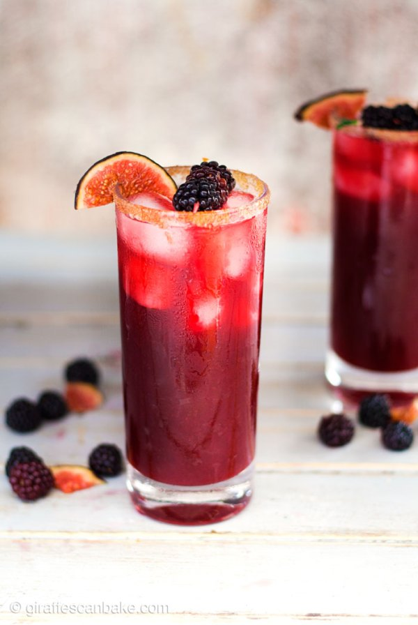 Blackberry, Cinnamon and Fig Margaritas - These Blackberry, Cinnamon and Fig Margaritas are the perfect fall cocktail. With a delicious blend of sweet, sour and warm spice you won't be able to resist them! They're really simple to make, which is handy because everyone will be asking for refills!