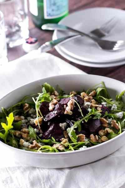 Roasted Beet Salad with Walnuts