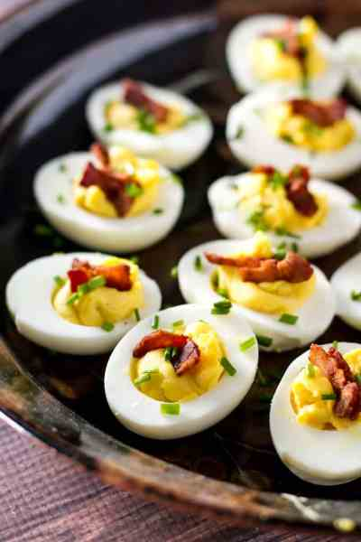 Deviled Eggs with Bacon & Chives