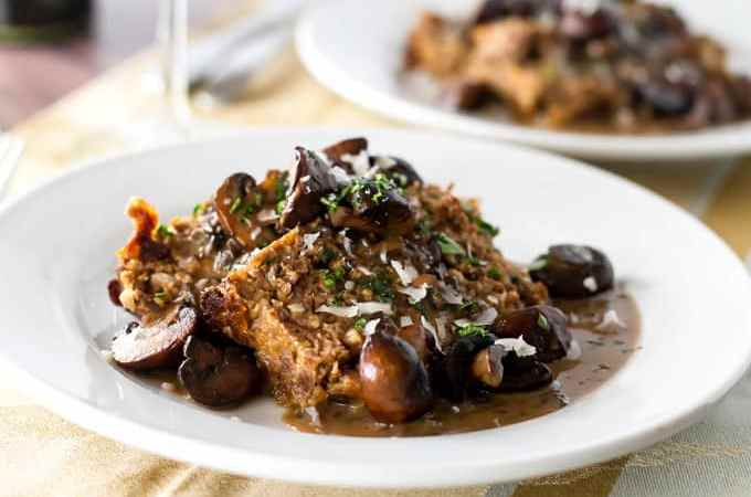 Meatloaf with Balsamic Mushroom Sauce | girlgonegourmet.com