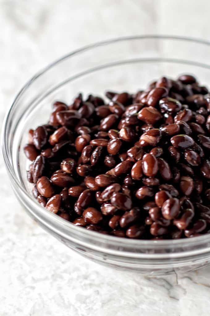 In this case, sweet and smoky baked black beans.