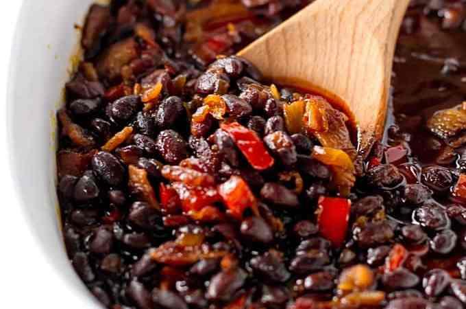 Baked Black Beans | girlgonegourmet.com