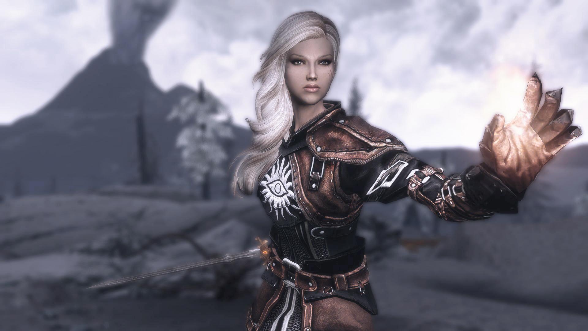 non skimpy female armor skyrim