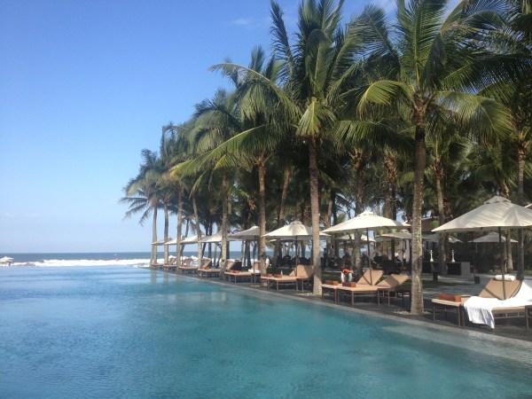 Pool area at Nam Hai