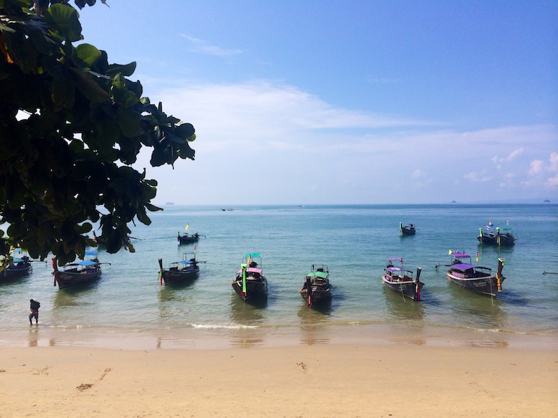 Ao Nang Beach - more about the boats than bathing