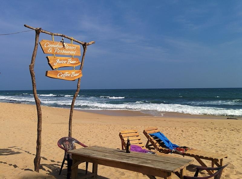 Beach cafe in Tangalla