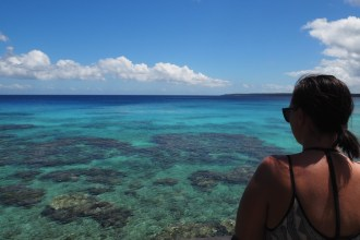 Soaking up the very blue view in Lifou