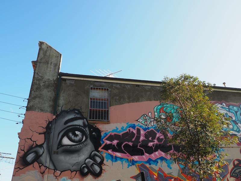 Eye-catching street art in Newtown